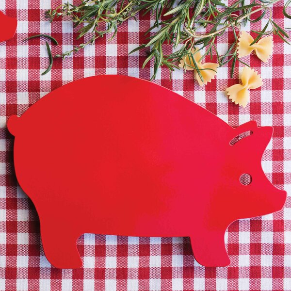 Metal Pig Trivet by August Grove