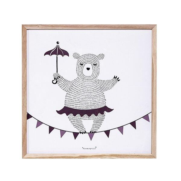 Dancing Bear Framed Art by Viv + Rae
