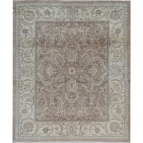 Sultanabad Oriental Hand-Knotted Wool Brown/Cream Area Rug
