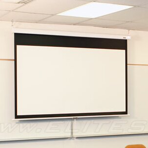 SRM Series White 120 diagonal Manual Projection Screen By Elite Screens