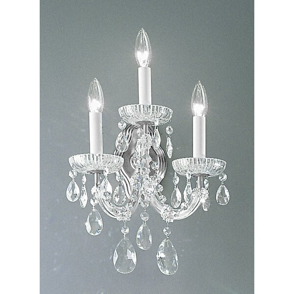 Maria Thersea 3-Light Candle Wall Light by Classic Lighting