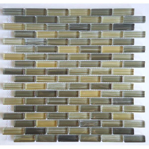 Rosewood 0.63 Slate and Glass Mosaic Tile in 5 Color Blend by Mulia Tile