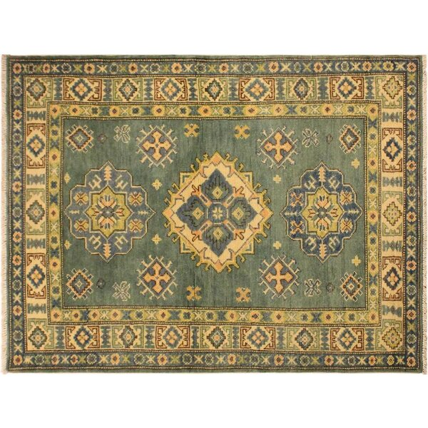 One-of-a-Kind Abingdon Hand-Knotted Green/Ivory Area Rug by Isabelline