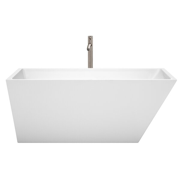 Hannah 59 x 29.5 Freestanding Soaking Bathtub by Wyndham Collection