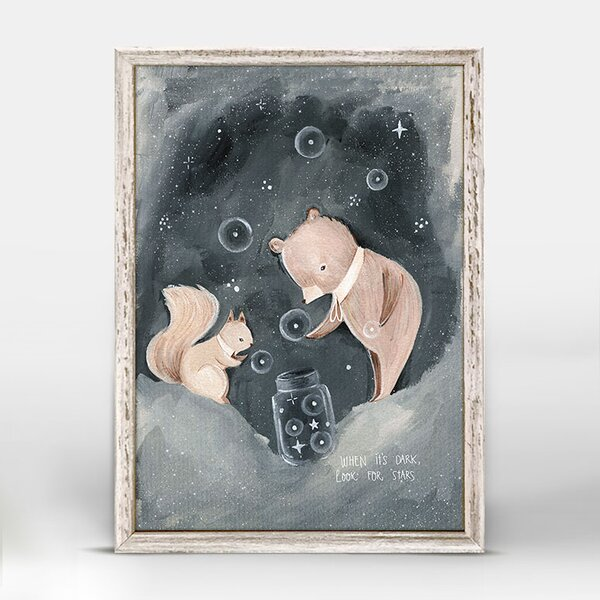Kacey Squirrel And Bear Mini Framed Canvas Art by Harriet Bee