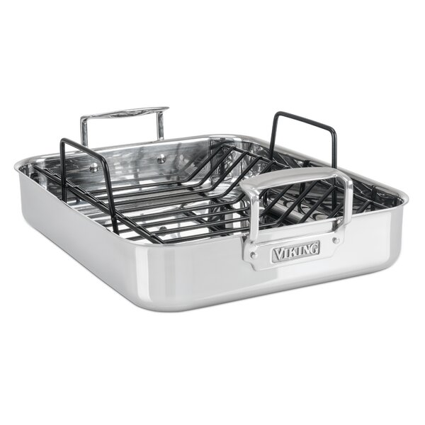 13 Roasting Pan with Non-Stick Rack by Viking