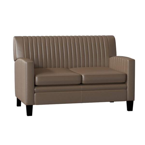 Barnabus Leather Loveseat By Bradington-Young