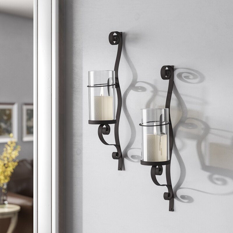 Red Barrel Studio Iron Wall Sconce Candle Holder & Reviews