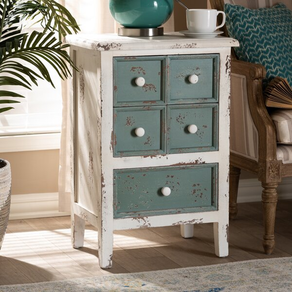 Clyburn 5 Drawer Nightstand by Highland Dunes