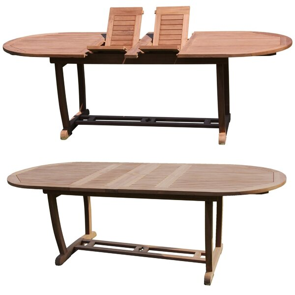 Jules 11 Piece Teak Dining Set by Rosecliff Heights