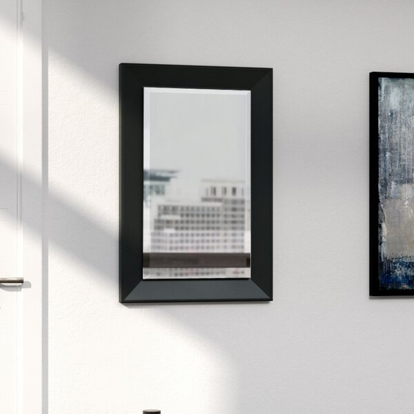 Rectangle Black Framed Wall Mirror by Mercury Row