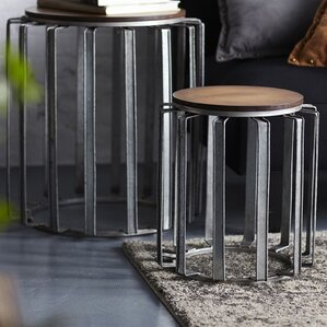 2 Piece End Table Set by Melrose International