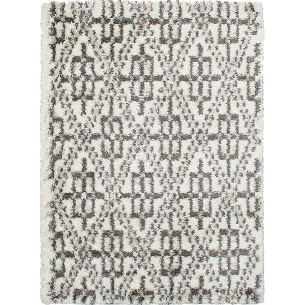 Corbett Cream/Dark Gray Area Rug by Foundry Select
