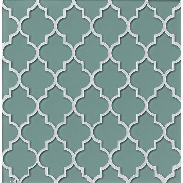 Chloe Glass Mosaic Tile in Frost by Grayson Martin