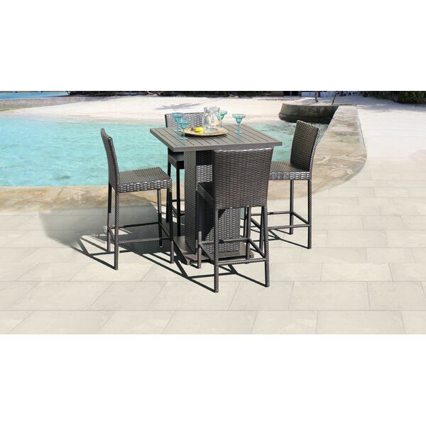 Tegan 5 Piece Bar Height Dining Set by Sol 72 Outdoor