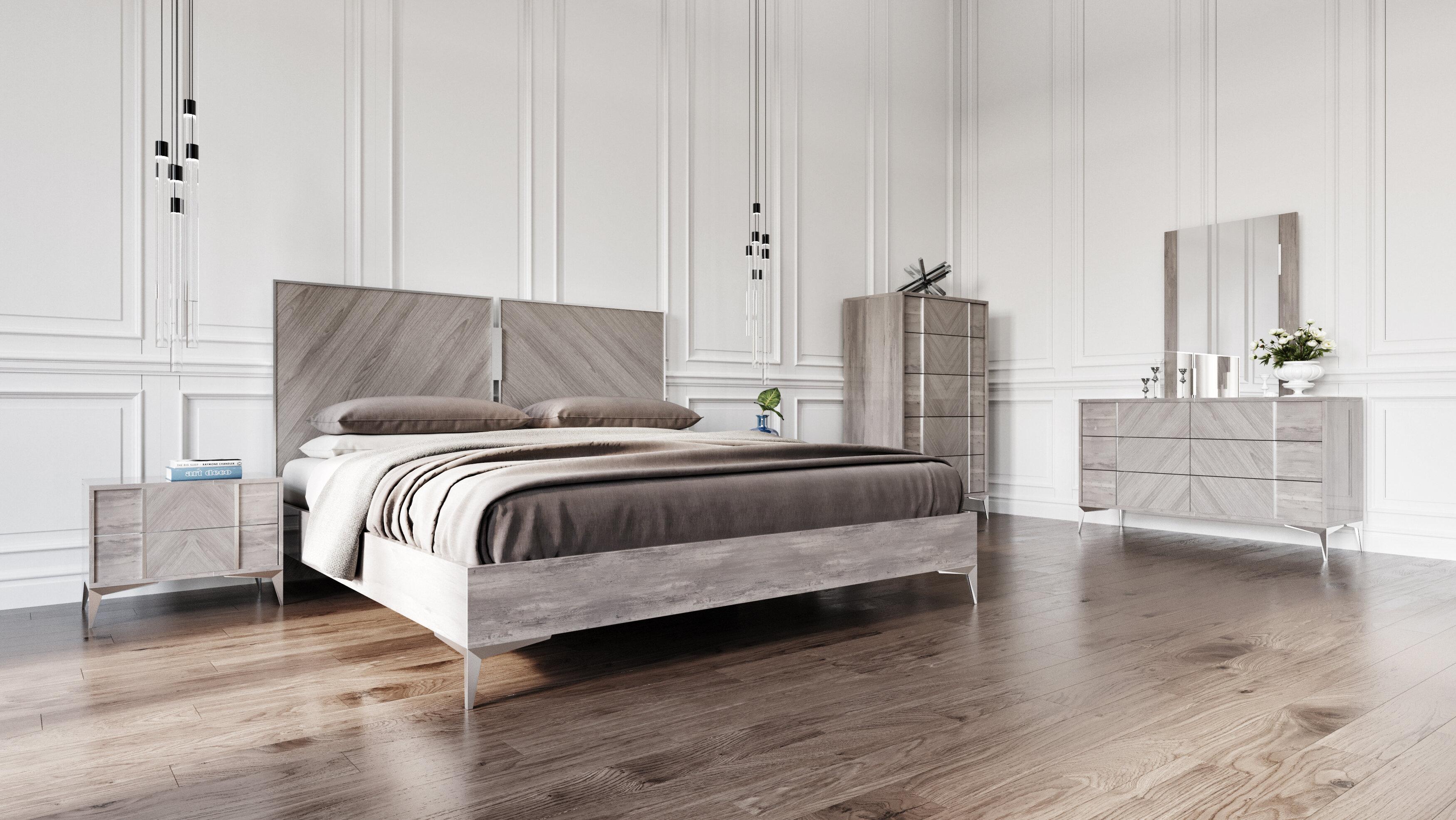 Brayden Studio Labombard Platform 5 Piece Bedroom Set | Wayfair