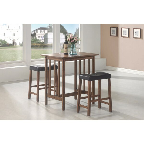 Keeter 3 Piece Counter Height Breakfast Nook Dining Set by Winston Porter