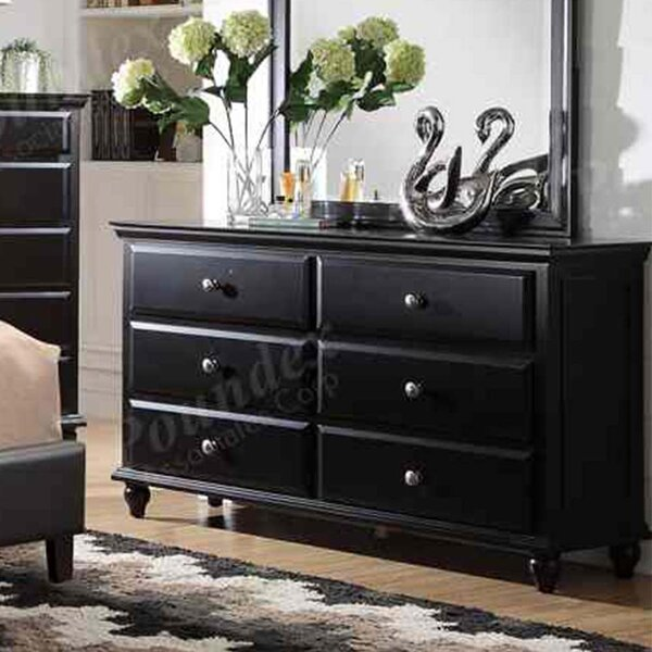 Tavon 6 Drawer Double Dresser by Charlton Home