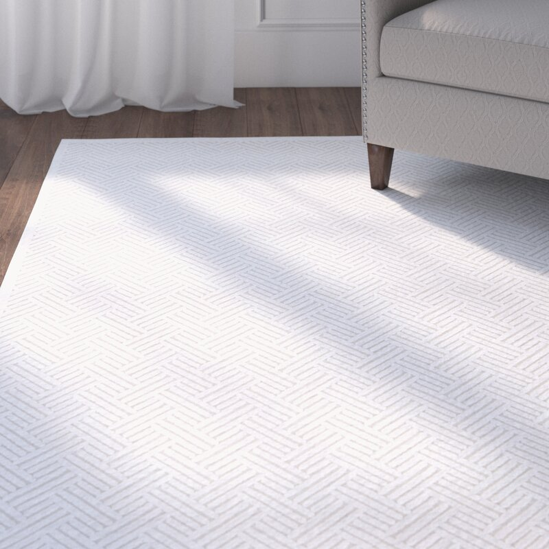 default_name - Charlton Home Ada Ivory & White Area Rug & Reviews Wayfair