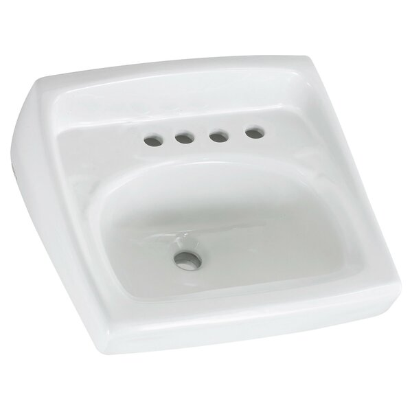 Loft Lucerne Ceramic 21 Wall Mount Bathroom Sink with Overflow by American Standard