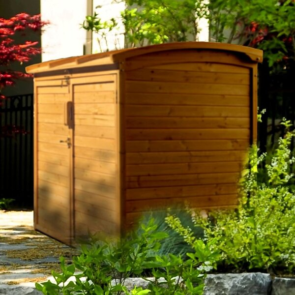 5 ft. 2 in. W x 2 ft. 10 in. D Wooden Horizontal Garbage Shed by Leisure Season