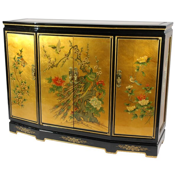 Maurice Slant Front 4 Door Accent Cabinet by World Menagerie World Menagerie