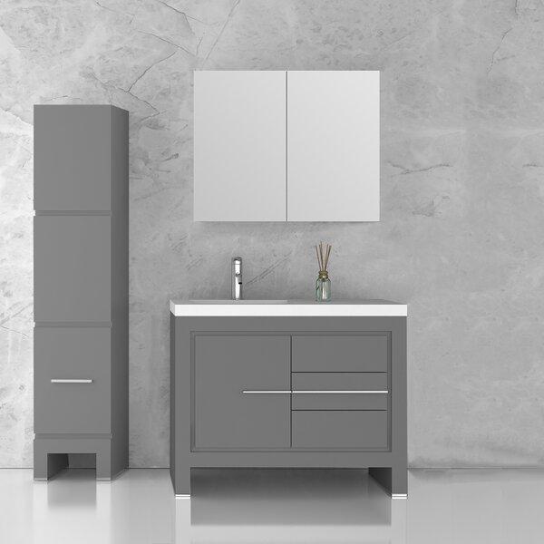 Cinar 39 Single Bathroom Vanity Set with Mirror