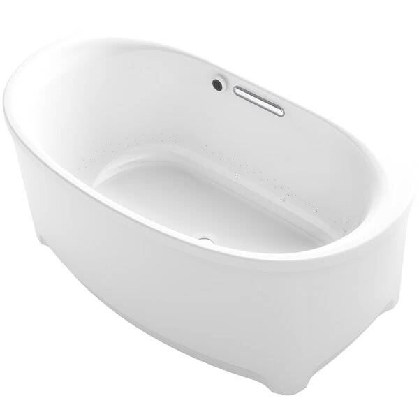 Underscore Oval Freestanding BubbleMassage™ Air Bath with Bask Heated Surface by Kohler