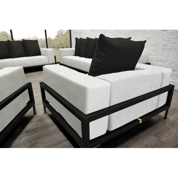 Nubis 4 Piece Sofa Set with Cushions by Solis Patio