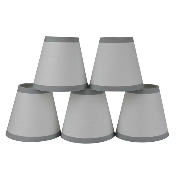 5 Cotton Empire Clip-on Candelabra Shade with Trim (Set of 5) by Winston Porter