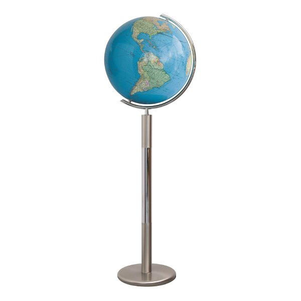 Hannover Duo Illuminated Floor Globe by Columbus G
