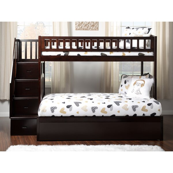 Salem Staircase Twin Over Full Bunk Bed with Shelves by Harriet Bee