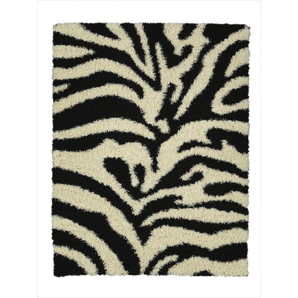 Charmain Black/White Area Rug by House of Hampton