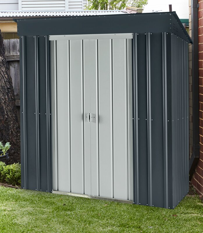 Garden Sheds 5 X 9 globel skillion 5 ft. 7 in. w x 3 ft. 9 in. d metal lean-to