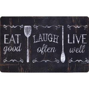 Chilton Oversized Eat Laugh Live Kitchen Mat