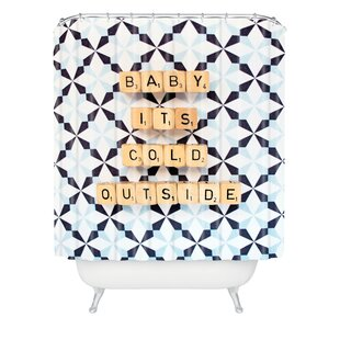 Affordable Happee Monkee Baby Its Cold Outside Shower Curtain ByDeny Designs