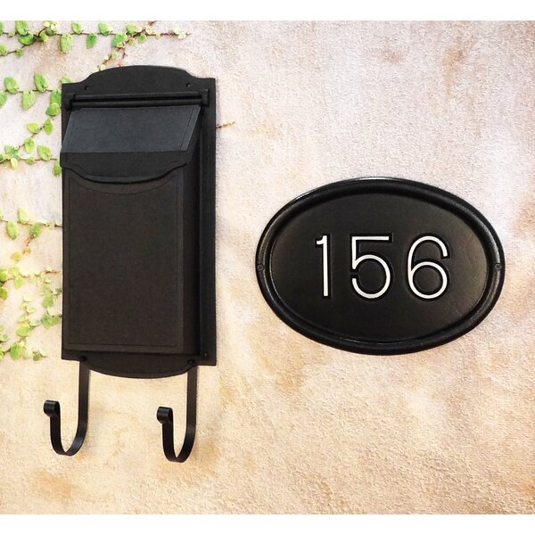 Contemporary Vertical Wall Mounted Mailbox with Address Plaque by Special Lite Products