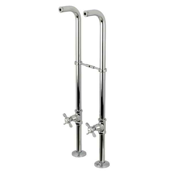 Kingston Double Handle Floor Mounted Clawfoot Tub Faucet by Kingston Brass Kingston Brass