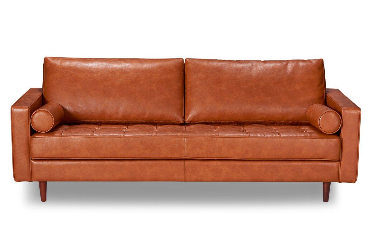 Laguna Hills Leather Sofa Reviews Joss Main ~ Orange Color Leather Sofa
