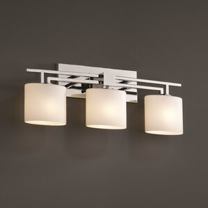 Bathroom Vanity Light Fixtures Up Or Down chrome vanity lights you'll love | wayfair