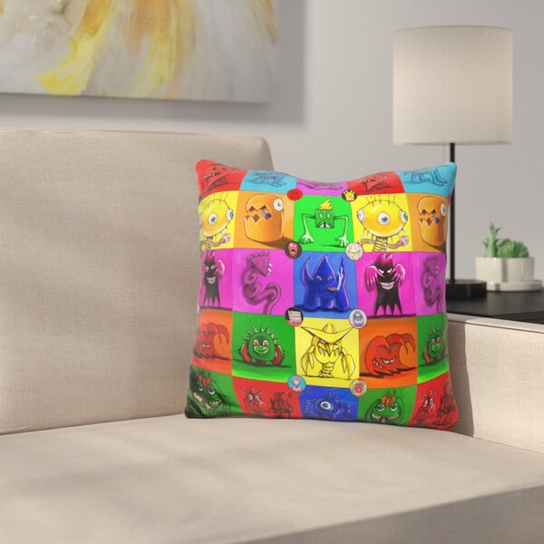Monsters Throw Pillow by East Urban Home