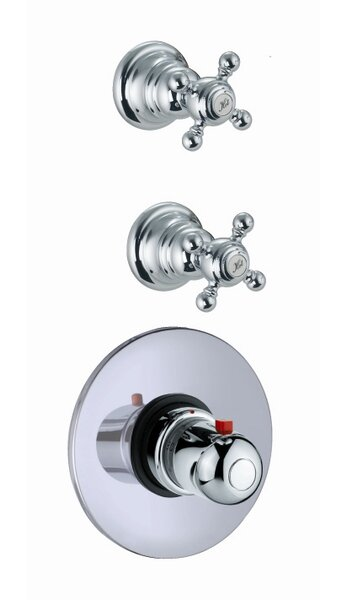 Elizabeth Built-In Thermostatic Faucet with Two Volume Control Handles by Fima by Nameeks