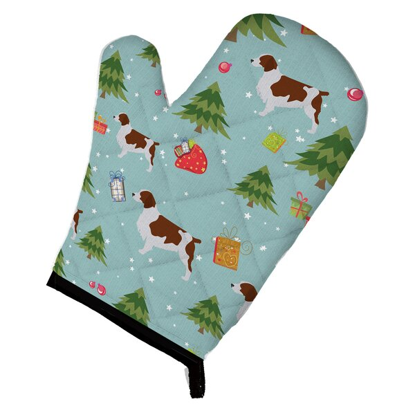 Christmas Welsh Springer Spaniel Oven Mitt by Caroline's Treasures