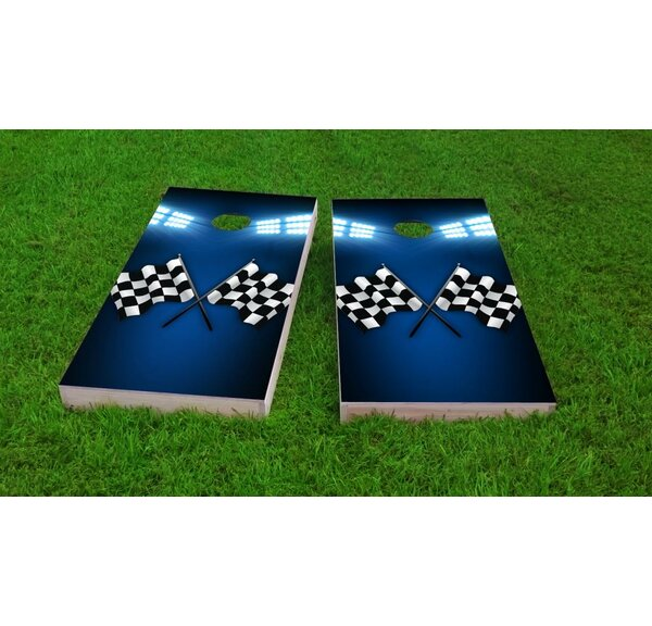 Checkered Flag Light Weight Cornhole Game Set by Custom Cornhole Boards