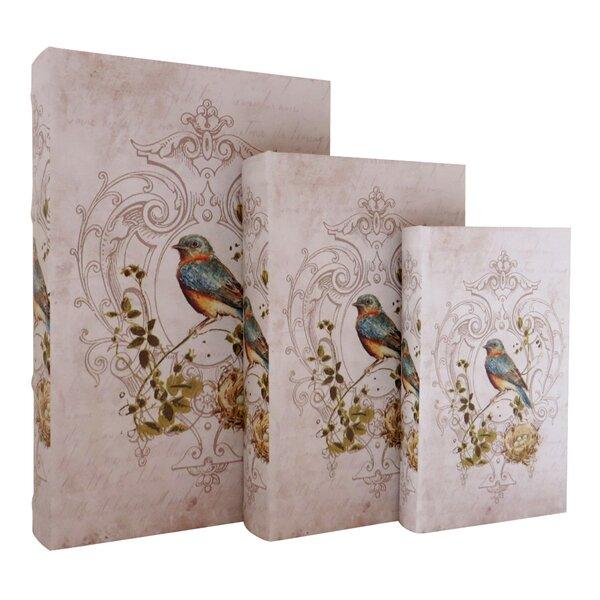 Rainbow Finch Storage Wood 3 Piece Decorative Box Set by Jeco Inc.