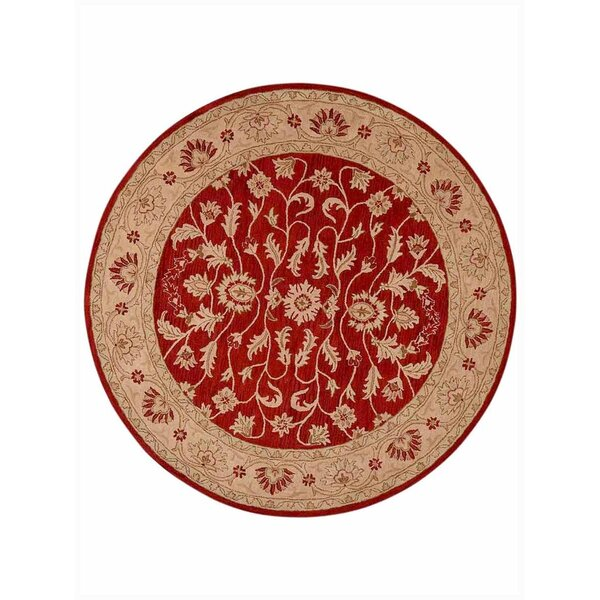 Lindauer Hand-Tufted Wool Red/Gold Area Rug by Astoria Grand