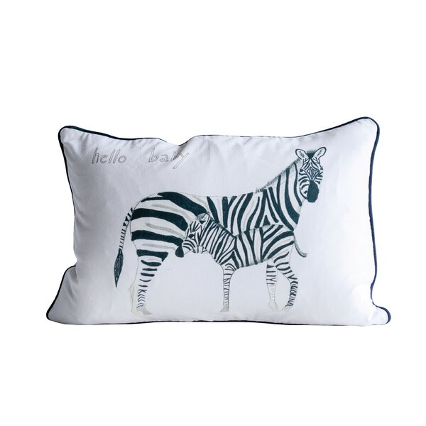 Lexington Avenue Zebra Cotton Throw Pillow by Harriet Bee