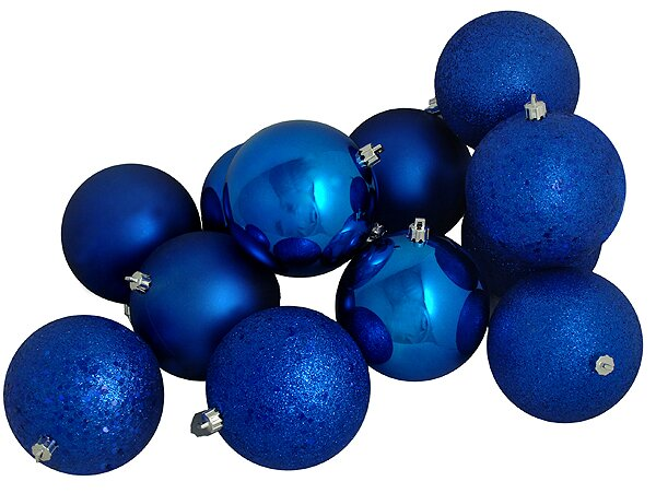 Shatterproof Christmas Ball Ornament Set (Set of 12) by Three Posts