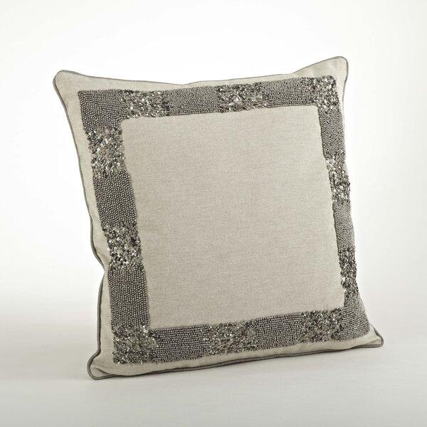 The Posh Beaded Cotton Throw Pillow by Saro