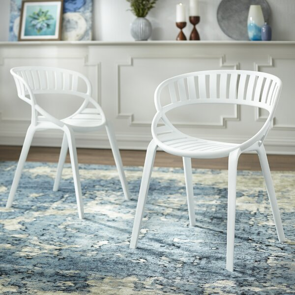 Nimitz Stacking Patio Dining Chair (Set of 2) by Wrought Studio